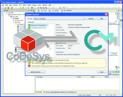 Picture of the development tool CoDeSys with CodeMeter